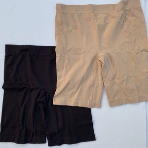Jockey Soft Skimmies Slipshorts Black & Nude NWOT